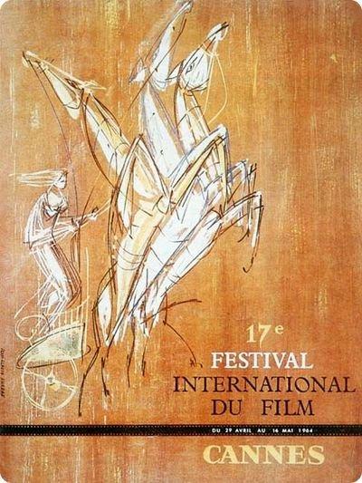 affiche festival de cannes 1964 Toutes les affiches du festival de Cannes de 1946 à 2013