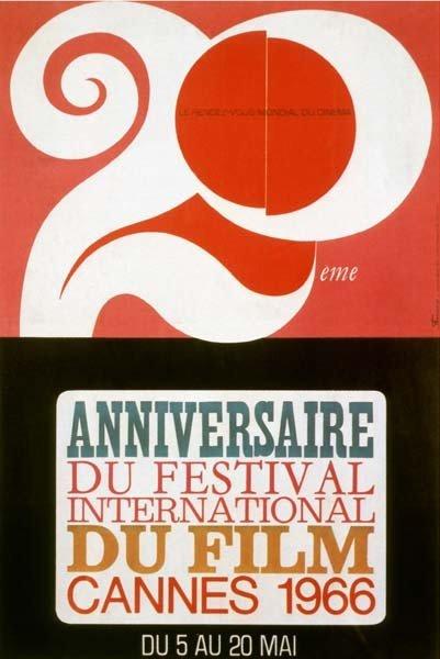 affiche festival de cannes 1966 Toutes les affiches du festival de Cannes de 1946 à 2013