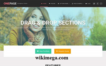 onepage wordpress theme pro free download