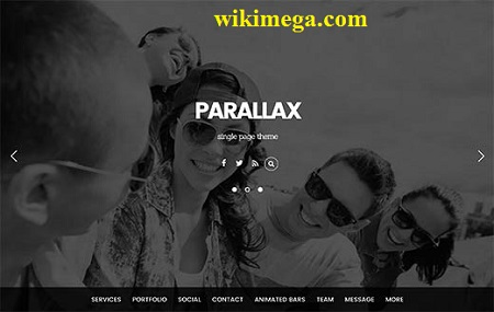 parallax theme, download free single page wordpress theme parallax