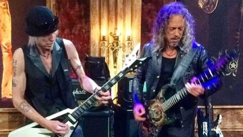 Kirk Hammett e Michael Schenker