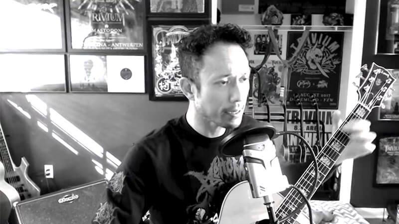 """Matt Heafy faz cover acústico de """"I Won't Back Down"""" de Tom Petty"""
