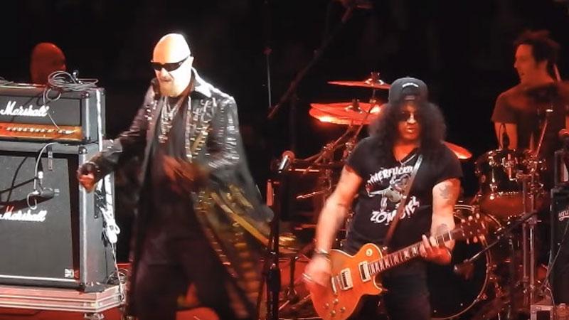 Rob Halford, Slash, Ace Frehley e David Ellefson tocam juntos em show beneficente de Alice Cooper