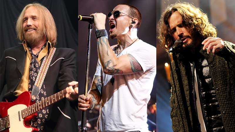 Tom Petty, Chester Bennington e Chris Cornell