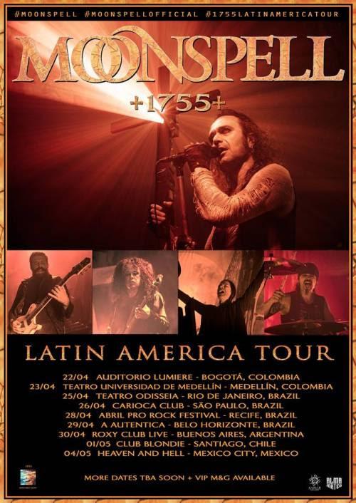 Moonspell tour brasil 2018