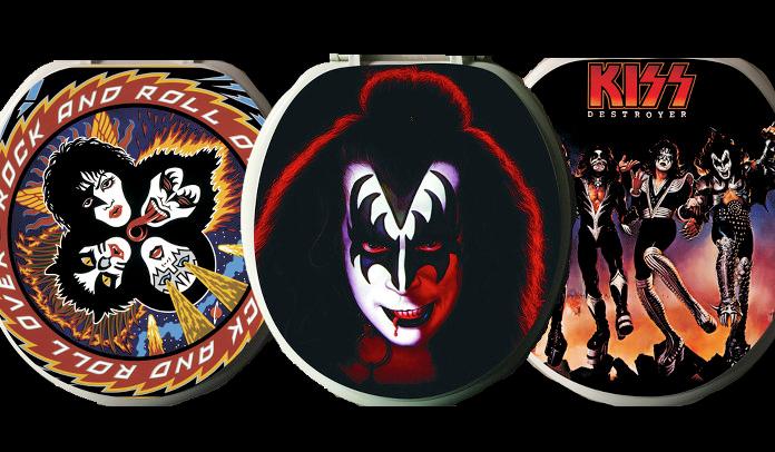 Kiss lança coleção de tampas de privada com capas dos álbuns