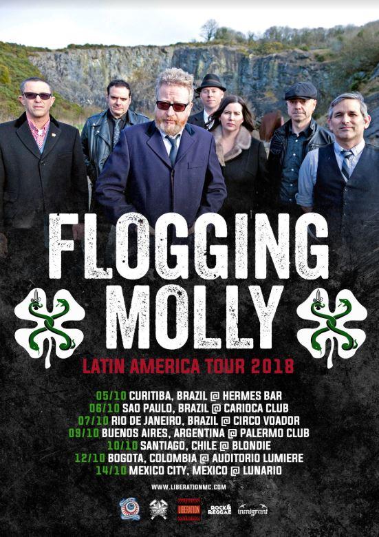 Flogging Molly Brasil 2018