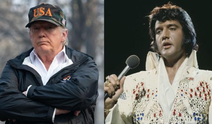 Trump se compara a Elvis Presley