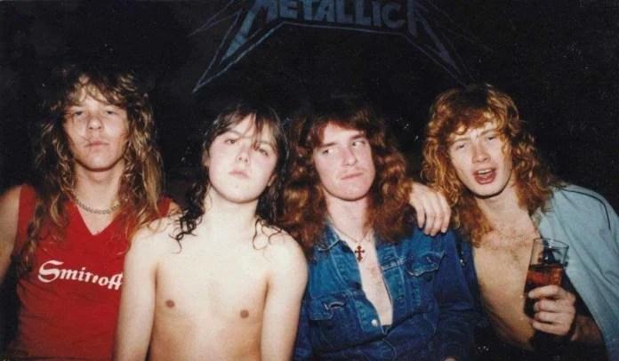 Cliff Burton e Dave Mustaine no Metallica
