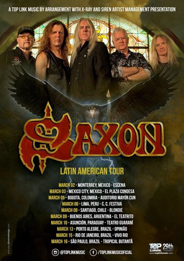 Saxon no Brasil
