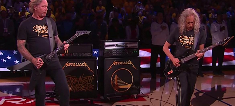 Metallica toca hino dos EUA em jogo da final da NBA