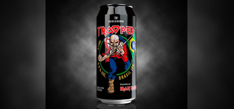 Iron Maiden revela cerveja criada especialmente para os fãs brasileiros, a Trooper