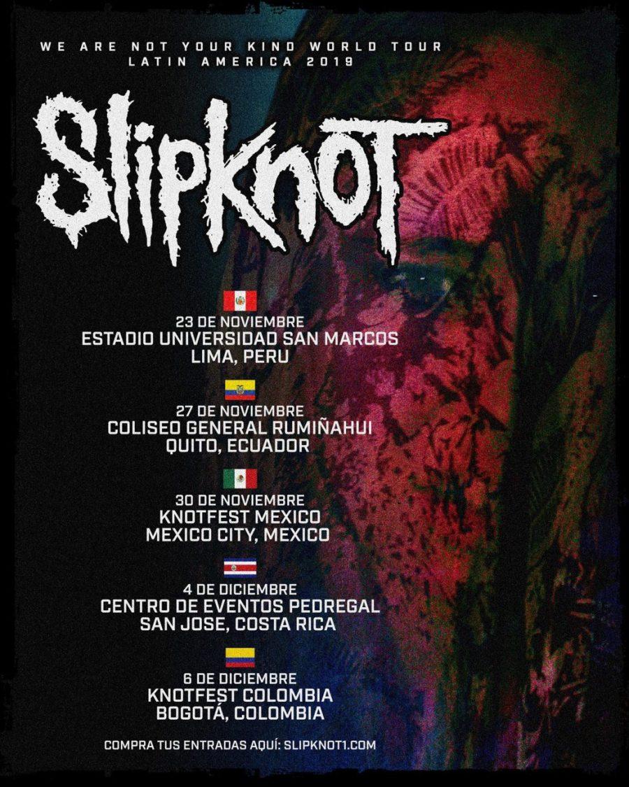 Slipknot na América Latina em 2019