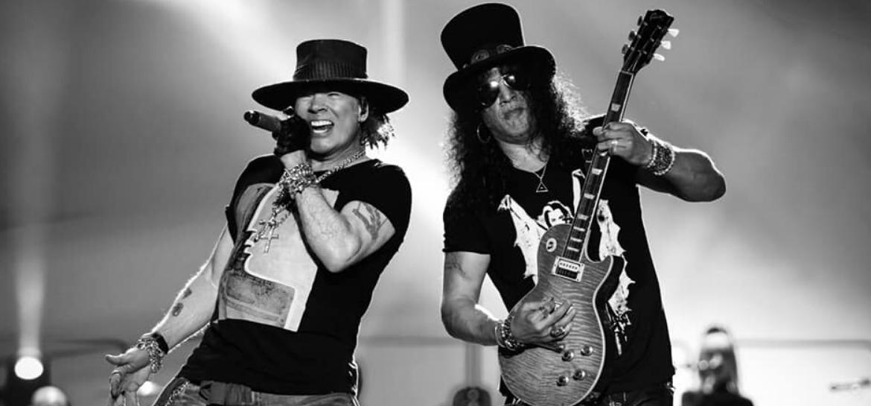 Axl e Slash do Guns N' Roses