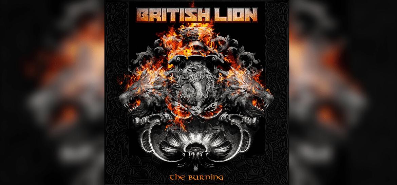 Capa do disco 'The Burning' do British Lion