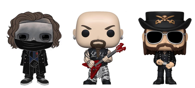 Resultado de imagem para Slipknot, Slayer, Ghost, Motörhead e ZZ Top são os próximos lançamentos da Funko