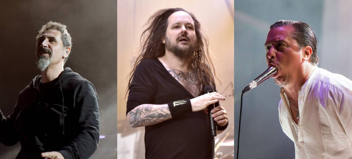 System Of A Down, Korn e Faith No More