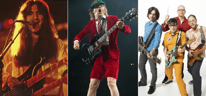 Rush, AC/DC e Weezer