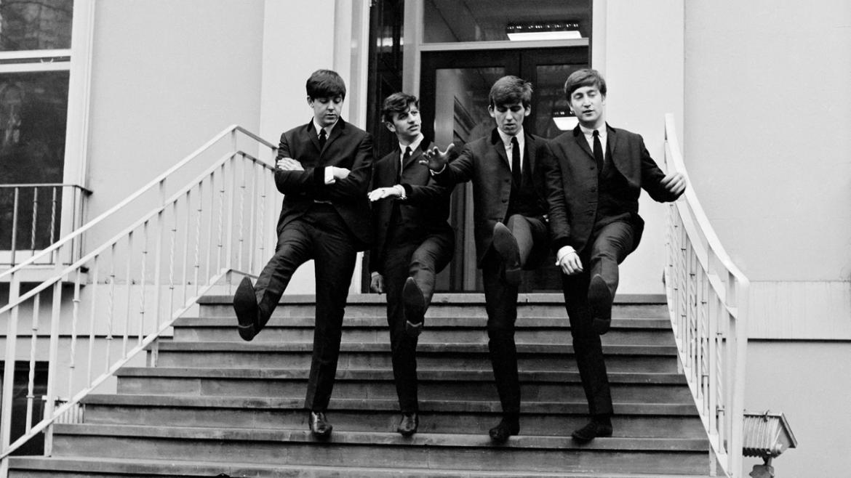 The Beatles nos estúdios da Abbey Road em 1962