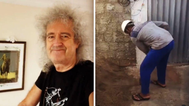 Brian May publica vídeo de brasileiros