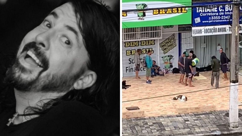Foo Fighters foi banda escolhida por moradores de rua para cantoria matinal