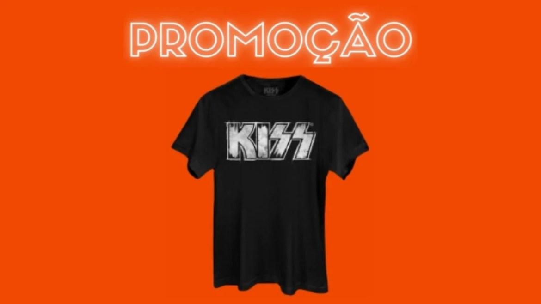 Promoção valendo camiseta Kiss