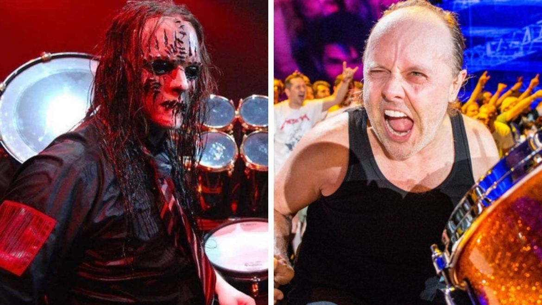 Joey Jordison e Lars Ulrich
