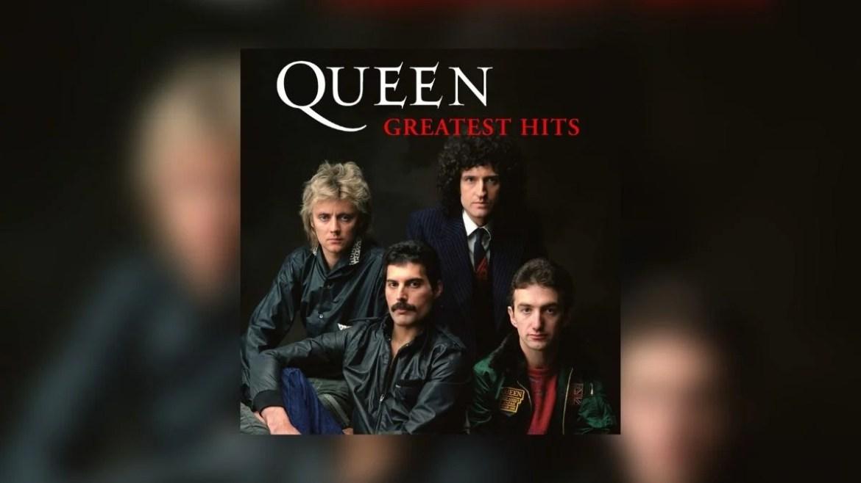 Capa do disco 'Greatest Hits', do Queen