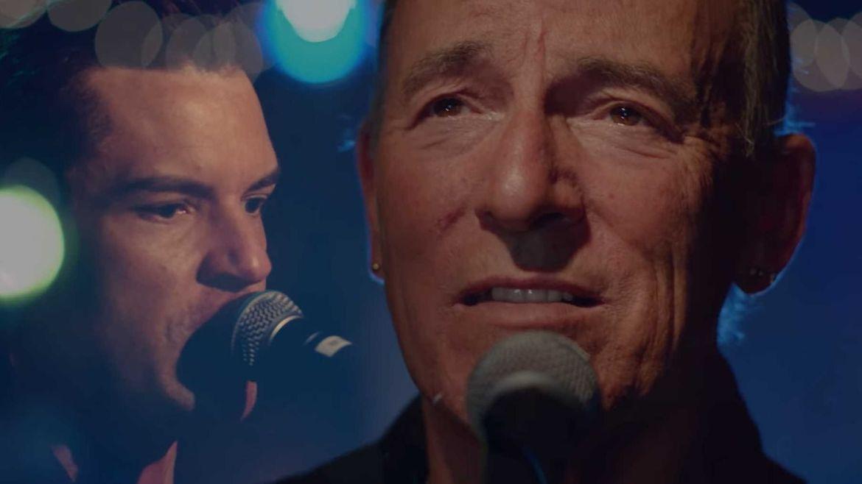 Bruce Springsteen e Brandon Flowers, do The Killers