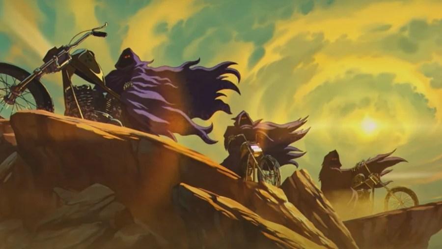 Cavaleiros do /apocalipse no clipe do Iron Maiden
