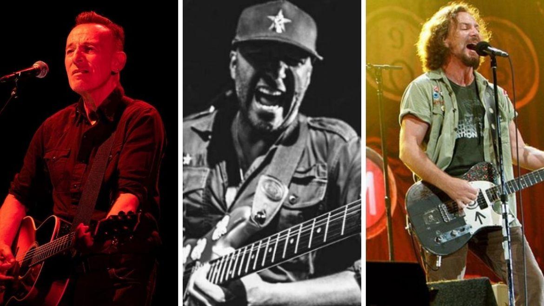 Tom Morello, Bruce Springsteen e Eddie Vedder