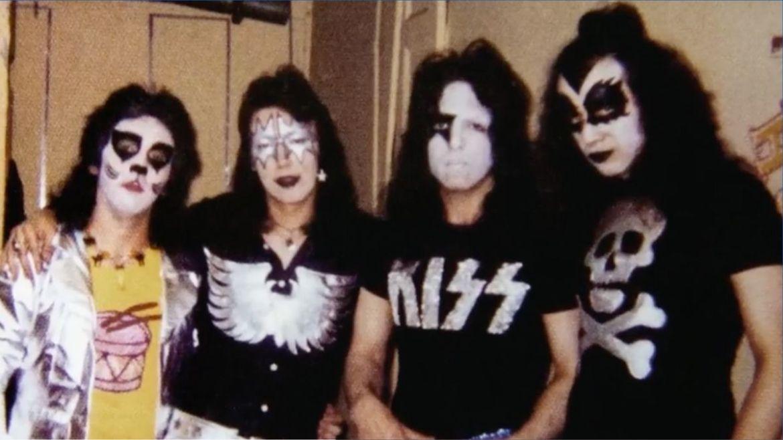 Peter Criss, Ace Frehley, Paul Stanley e Gene Simmons no começo do Kiss