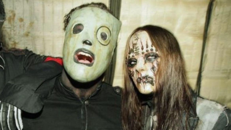 Corey Taylor e Joey Jordison no Slipknot