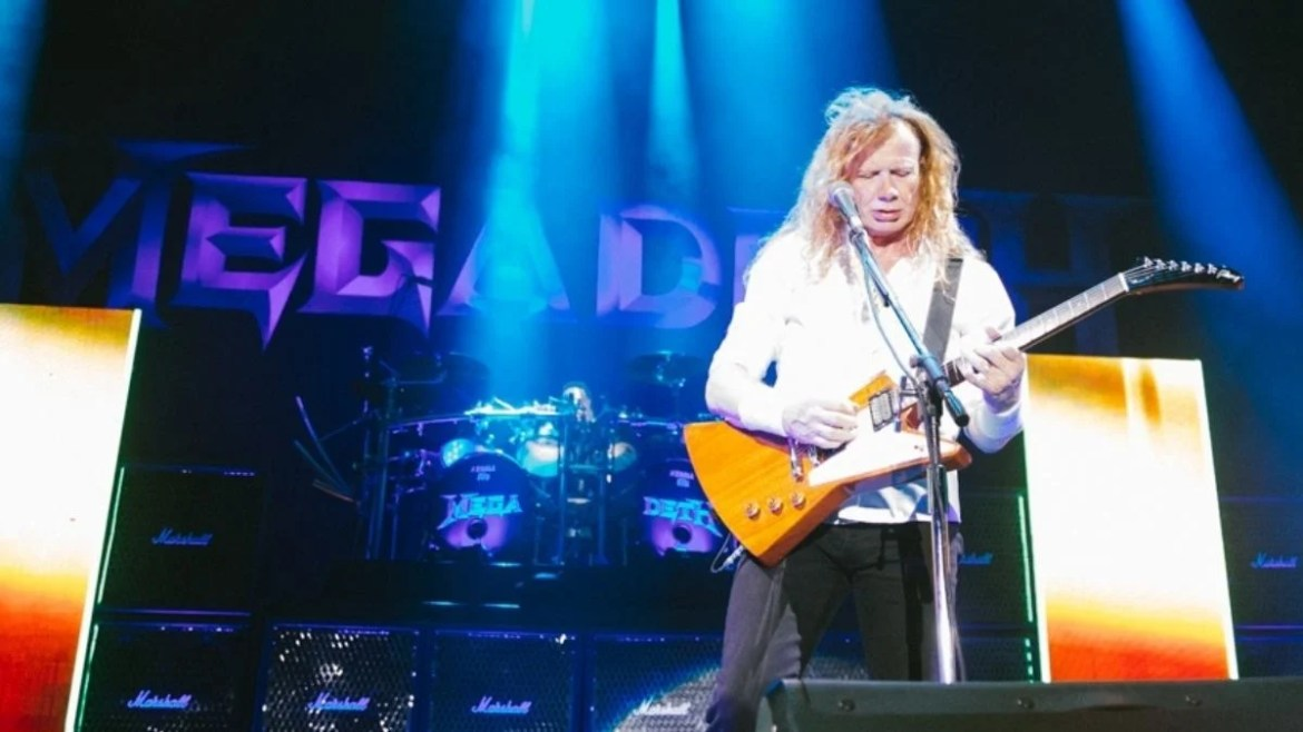 Dave Mustaine durante a 'The Metal Tour of The Year', em 2021