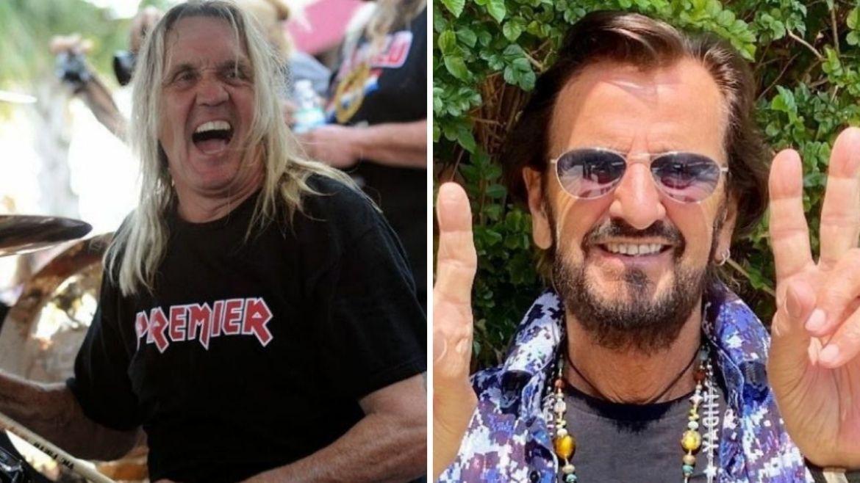 Nicko McBrain e Ringo Starr