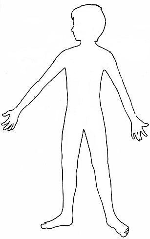 silueta de cuerpo humano silueta del cuerpo humano para niños