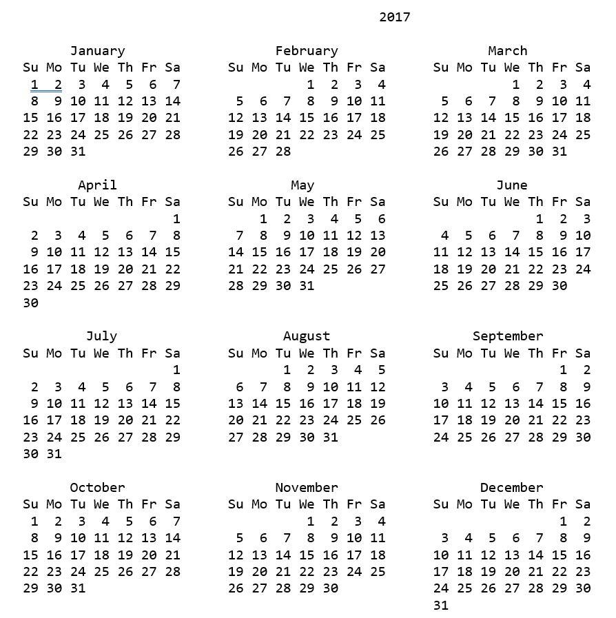calendar – wikiPython
