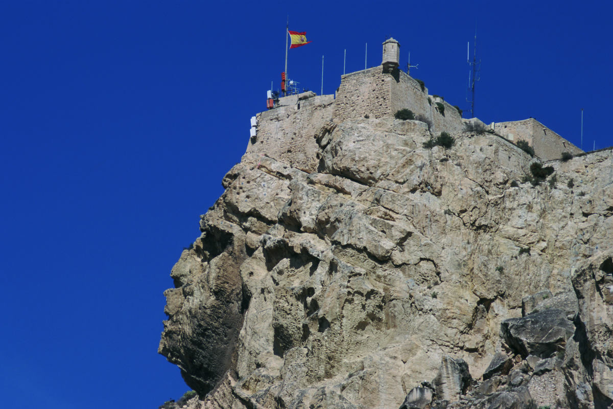 Het Gelaat Van De Moorse Prins In De Rots Van Alicante