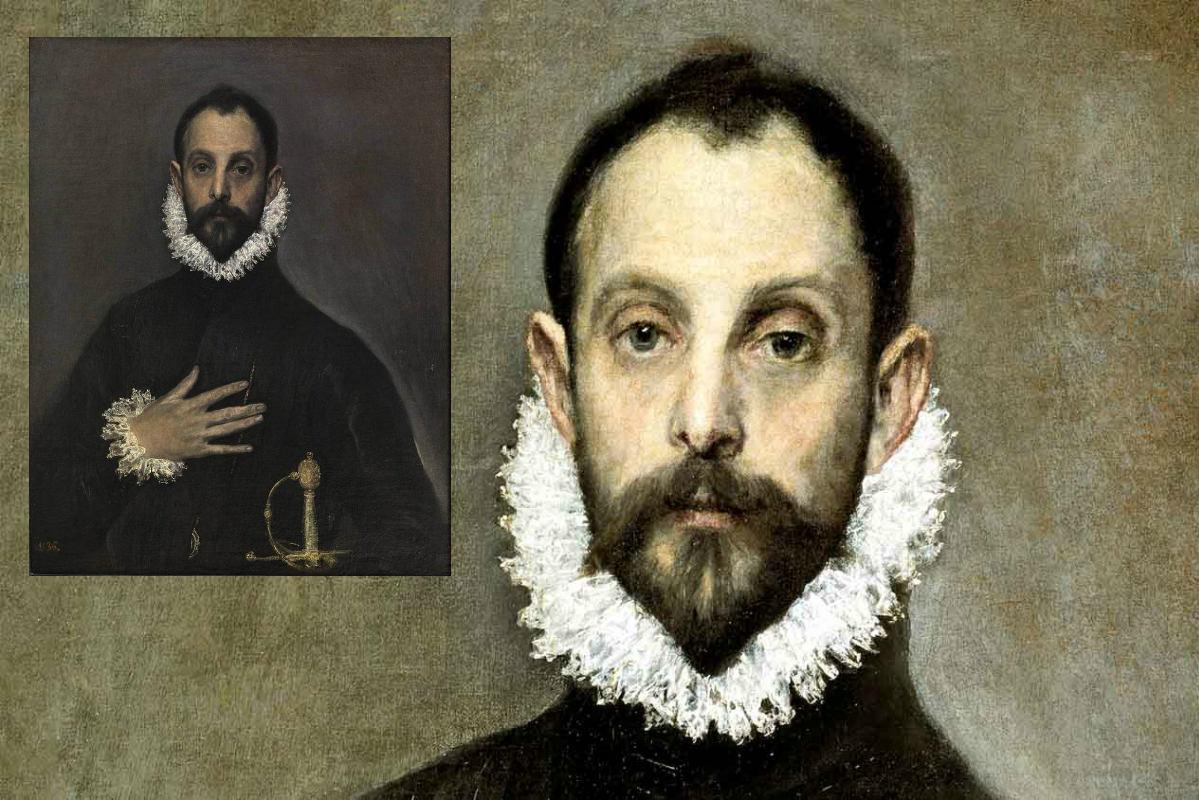 El Prado – De Edelman Met De Hand Op Zijn Borst Van El Greco