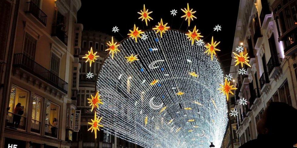 Málaga - Calle Larios - Foto: Youtube