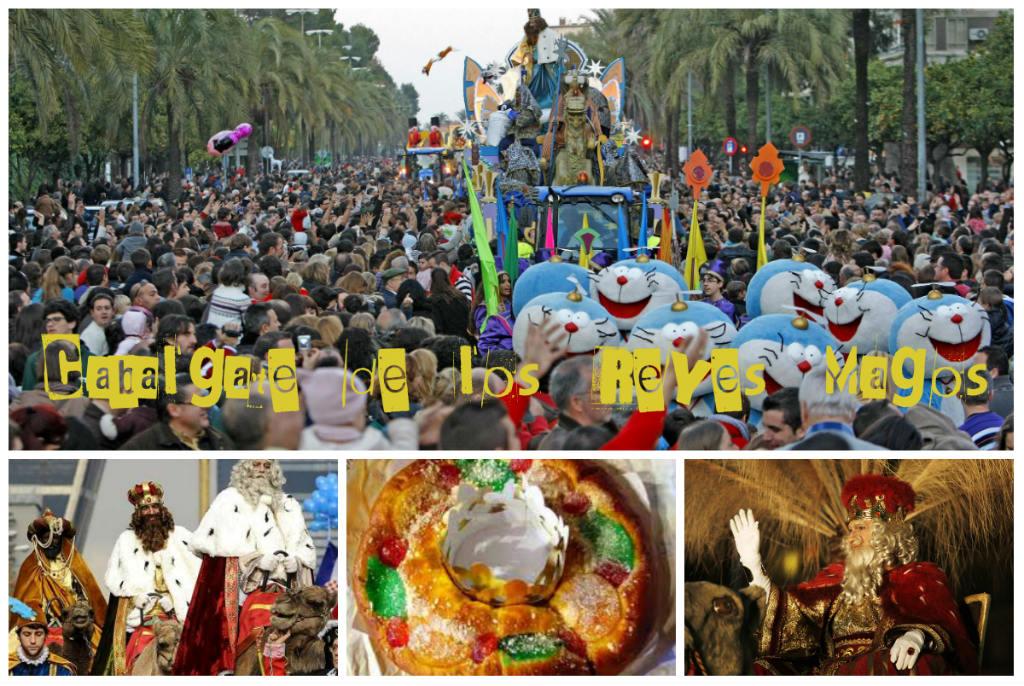 """Cabalgata De Los Reyes Magos – Feest Van De """"Drie Koningen"""" In Spanje Op 6 Januari"""