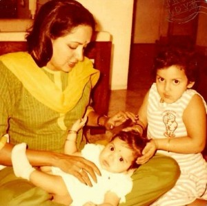 Ahana Deol Childhood Photo