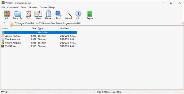 WinRAR with new theme