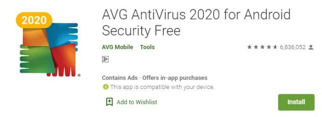 AVG AntiVirus 2020 for Android Security Free