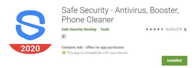 Safe Security - Antivirus, Booster, Phone Cleaner
