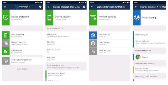 Sophos Intercept X for Mobile