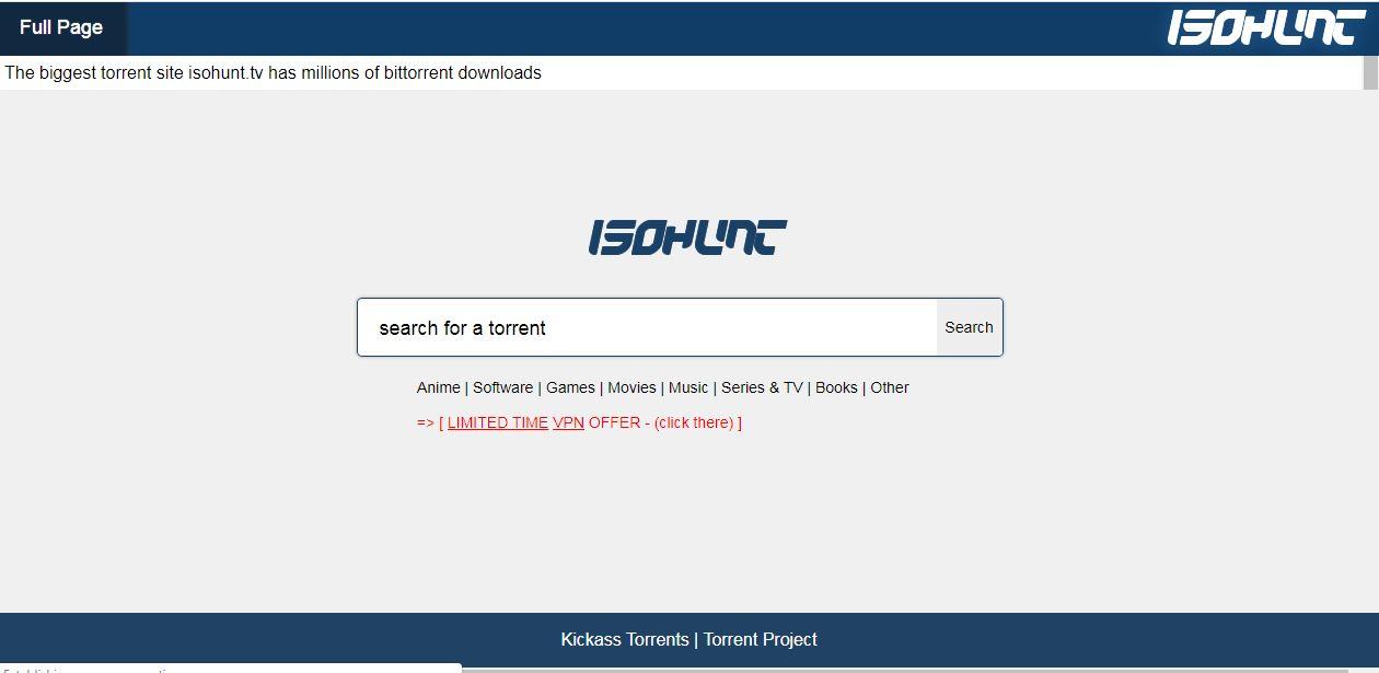 isoHunt Proxy Mirrors isoHunt unblocked alternative Torrent sites
