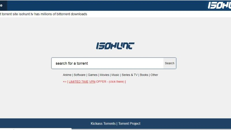 isoHunt Proxy Mirrors isoHunt unblocked alternative Torrent sites