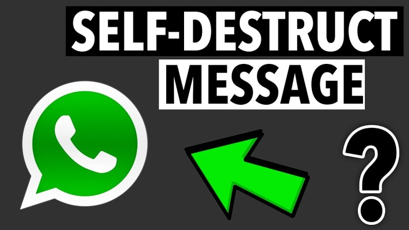 How to Send that Self Destruction Messages on WhatsApp Easy and Fast? 100% working