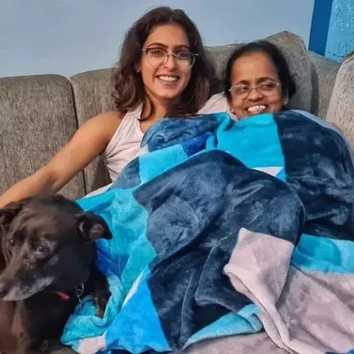 Samyukta Hegde with Mother